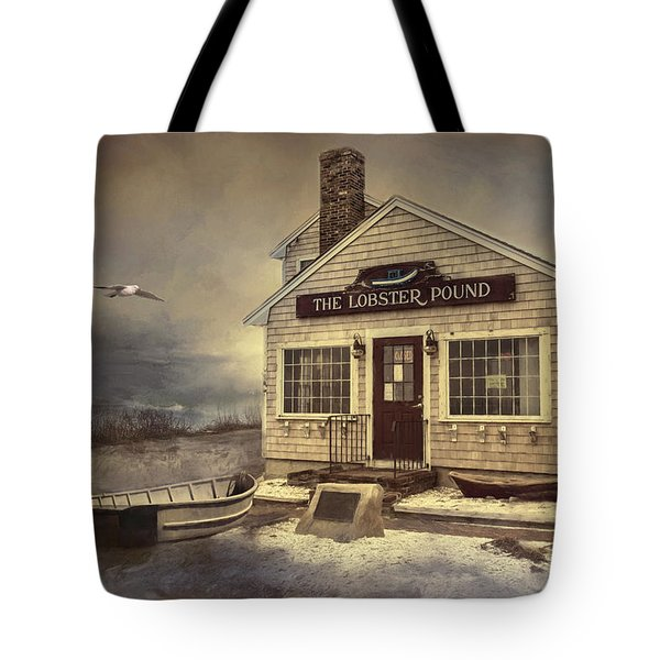 Tote Bag featuring the photograph The Lobster Pound by Robin-Lee Vieira