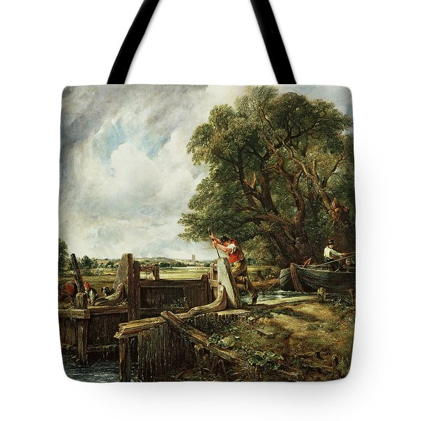 The Lock Tote Bag by John Constable