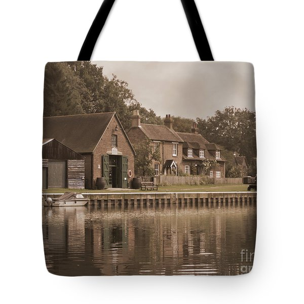 The Lock Keeper's Cottage Tote Bag by Terri Waters