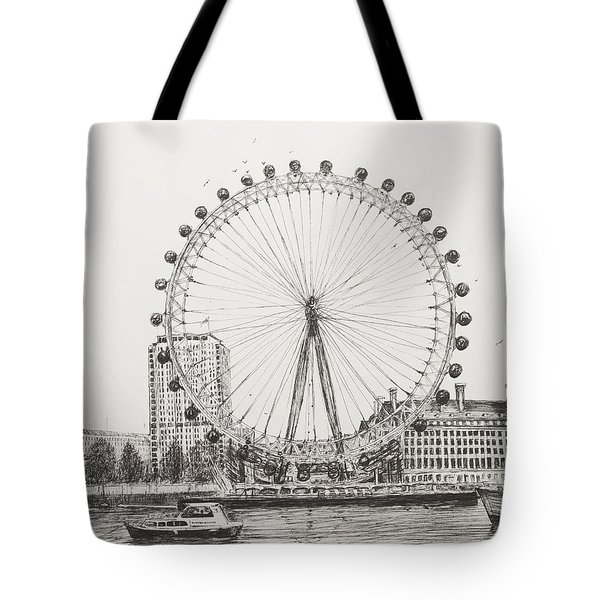 The London Eye Tote Bag by Vincent Alexander Booth