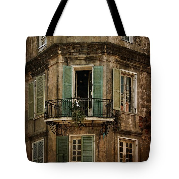 The Lone Balcony Of New Orleans Tote Bag
