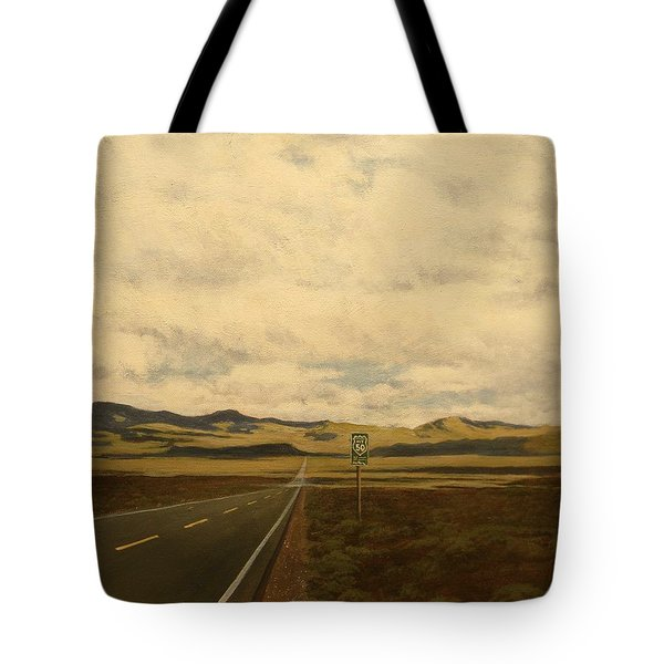 The Loneliest Road Tote Bag
