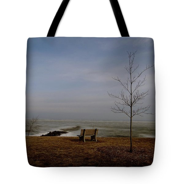 The Lonely Bench Tote Bag