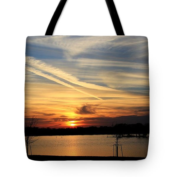 The Lonely Sunset Tote Bag