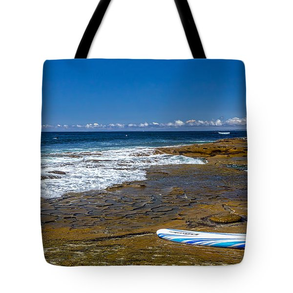 The Long Board Tote Bag by Peter Tellone