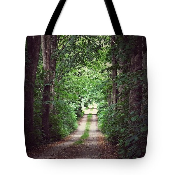 The Long Driveway Tote Bag by Karen Stahlros