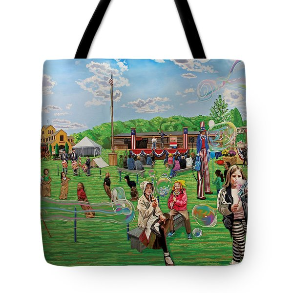 The Long Island Fair At Old Bethpage Restoration Tote Bag
