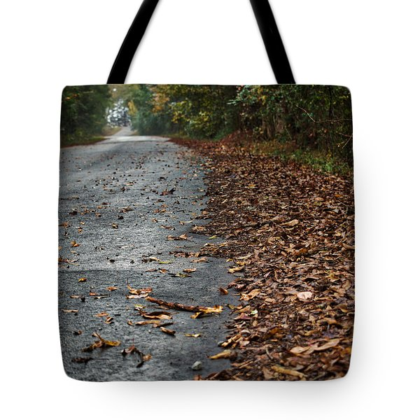 Tote Bag featuring the photograph The Long Road Home by Mark Guinn