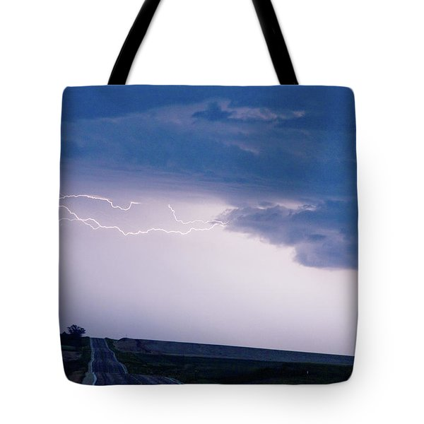 The Long Road Into The Storm Tote Bag by James BO  Insogna
