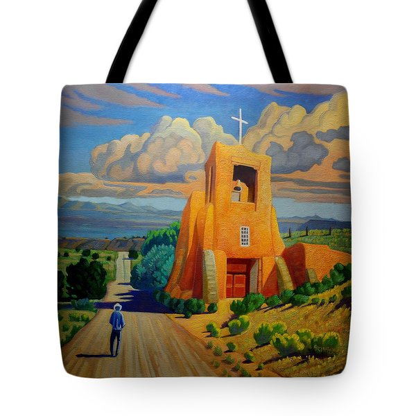 The Long Road To Santa Fe Tote Bag