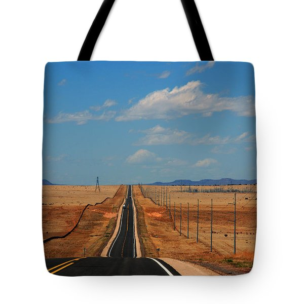The Long Road To Santa Fe Tote Bag by Susanne Van Hulst