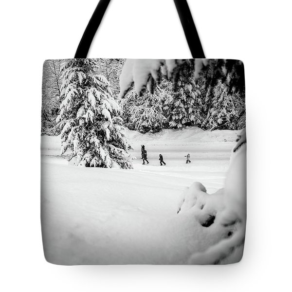 Tote Bag featuring the photograph The Long Walk- by JD Mims