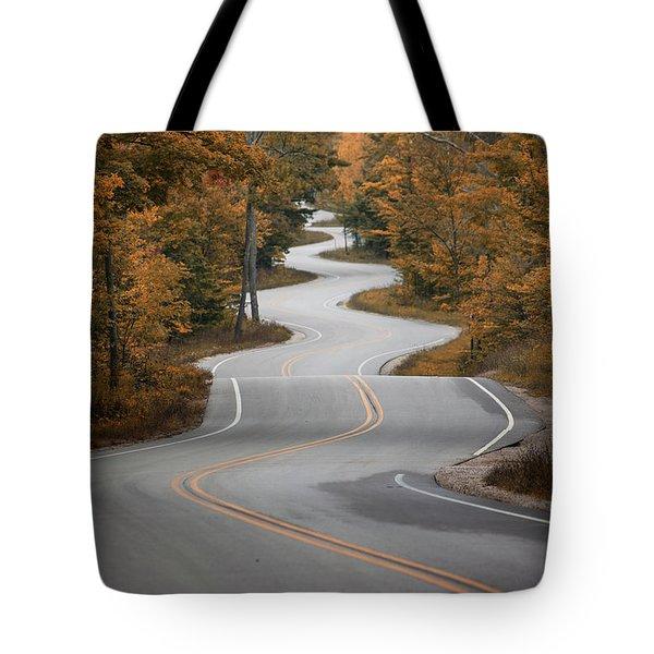 The Long Winding Road Tote Bag