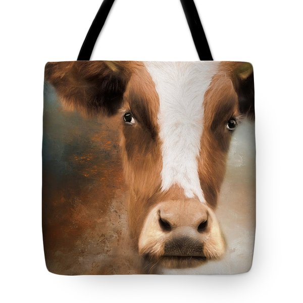 Tote Bag featuring the photograph The Look by Robin-Lee Vieira
