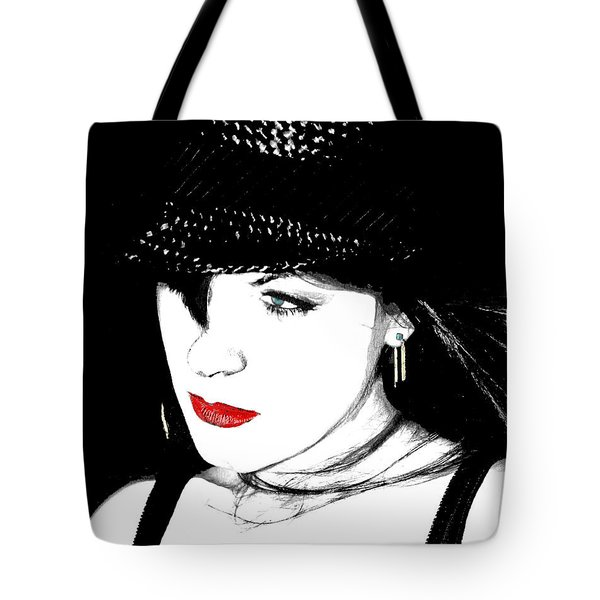Tote Bag featuring the painting The Look by Tbone Oliver