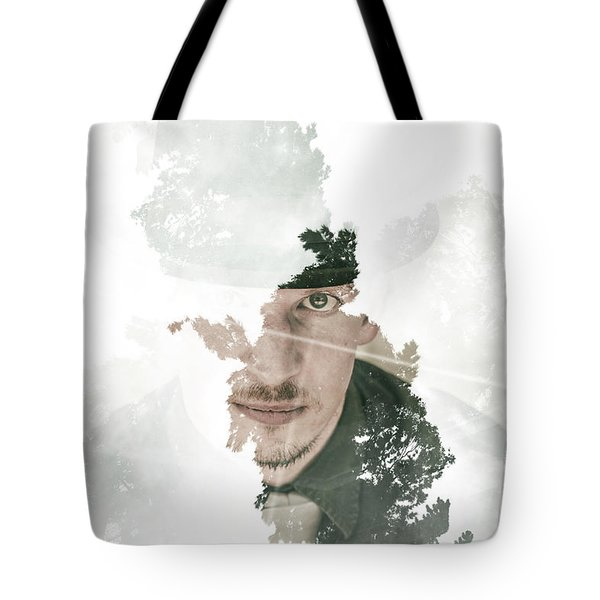 The Looking Glass Forest Man Tote Bag
