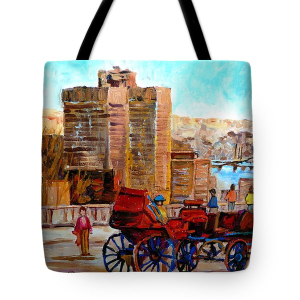The Lookout On Mount Royal Montreal Tote Bag by Carole Spandau