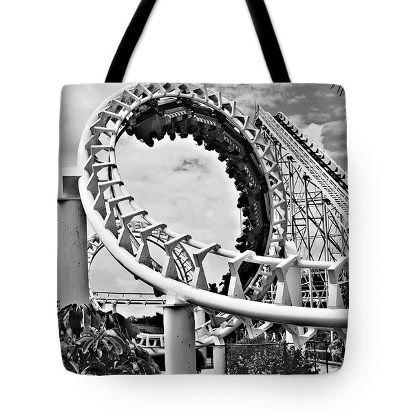 The Loop Black And White Tote Bag by Douglas Barnard