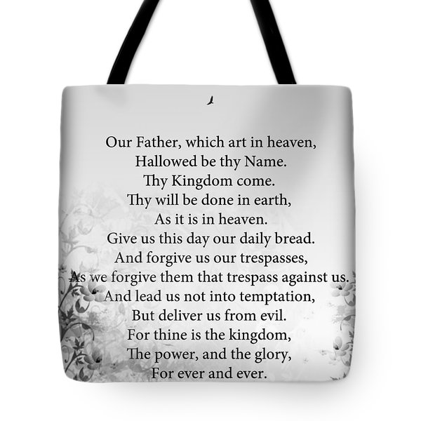 The Lord's Prayer Tote Bag by Trilby Cole