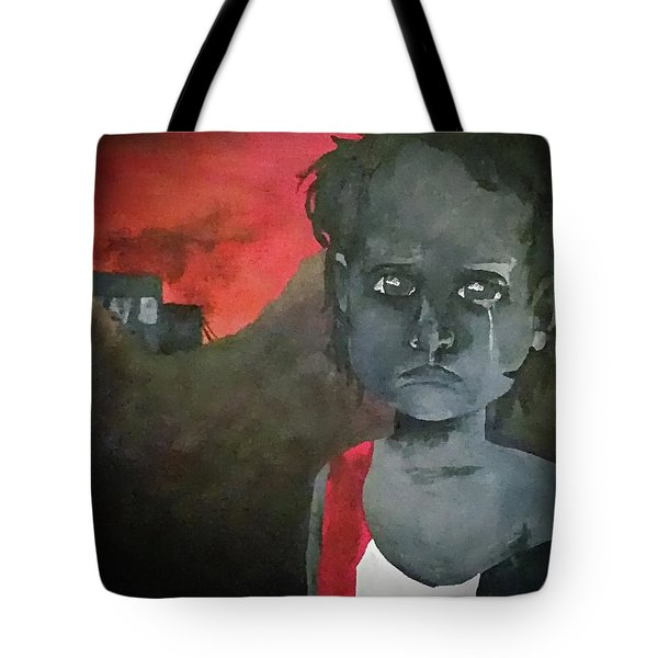 Tote Bag featuring the digital art The Lost Children Of Aleppo by Joseph Hendrix