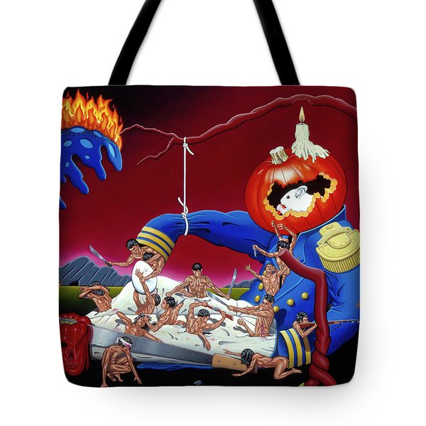 Tote Bag featuring the painting The Lost Revolution by Paxton Mobley