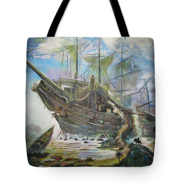 The Lost Ship Tote Bag