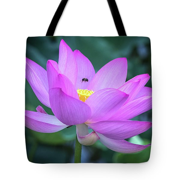 The Lotus And The Bee Tote Bag