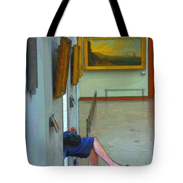 Tote Bag featuring the photograph The Louvre by Steven Richman