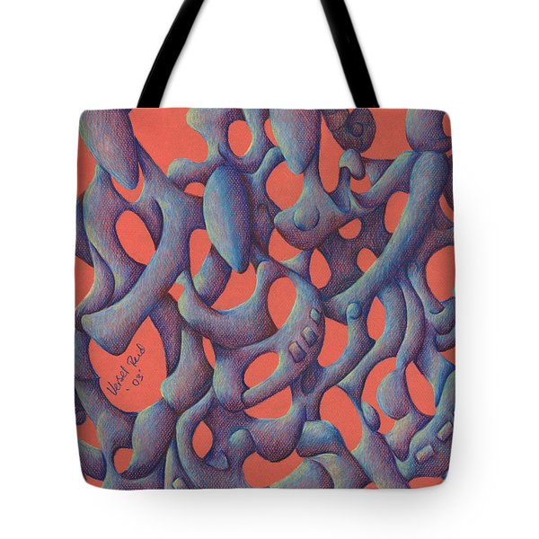 The Love Triangle Tote Bag by Versel Reid