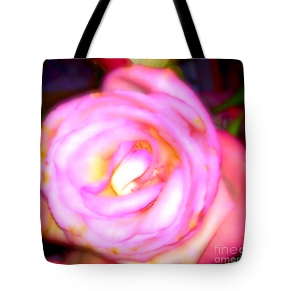 Tote Bag featuring the digital art The Lovely by Gayle Price Thomas