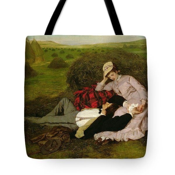The Lovers Tote Bag by Pal Szinyei Merse