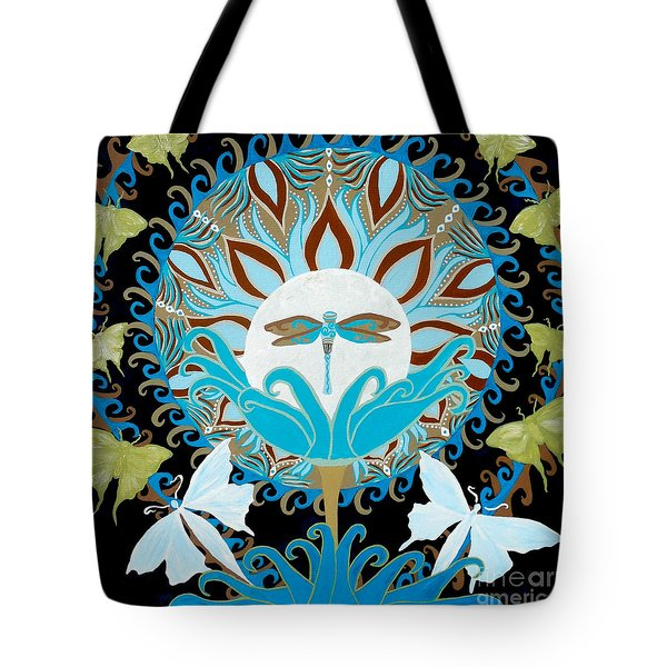The Luna Moth Journey Of Faith And Love Tote Bag