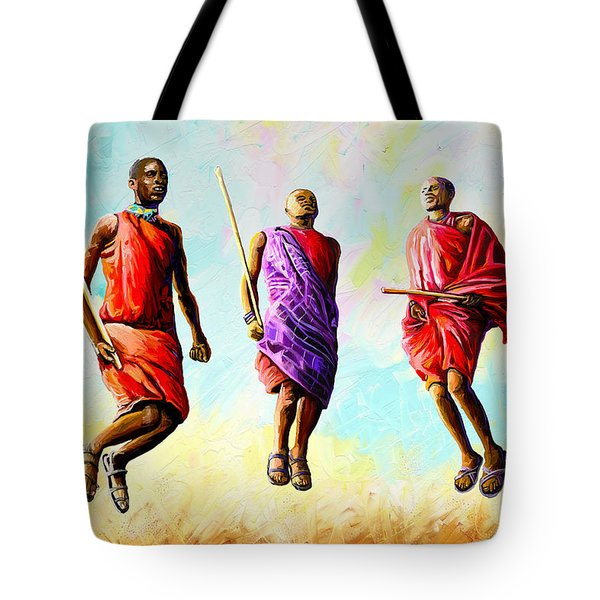 The Maasai Jump Tote Bag