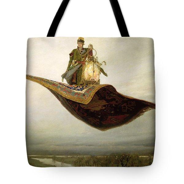 The Magic Carpet Tote Bag by Apollinari Mikhailovich Vasnetsov