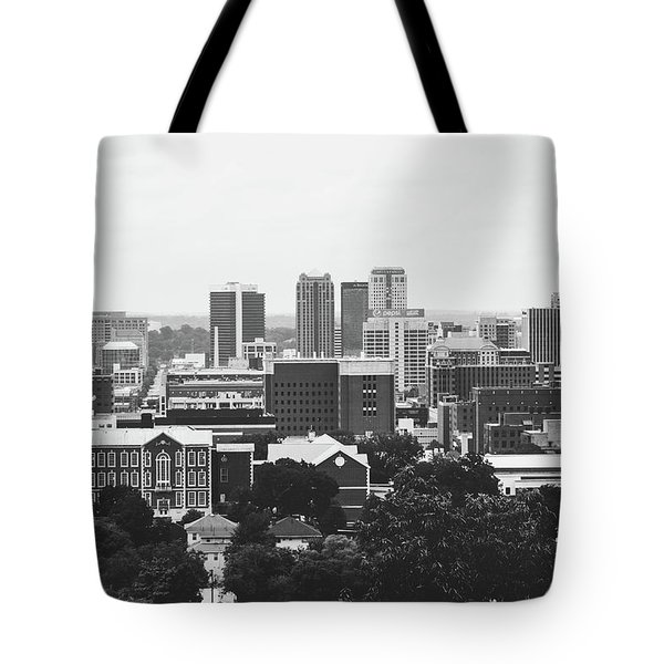 Tote Bag featuring the photograph The Magic City In Monochrome by Shelby Young