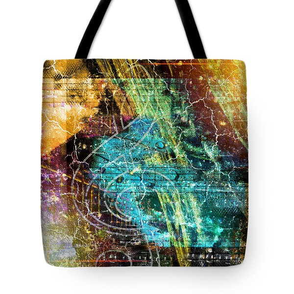 Tote Bag featuring the digital art The Magic Key. by Art Di