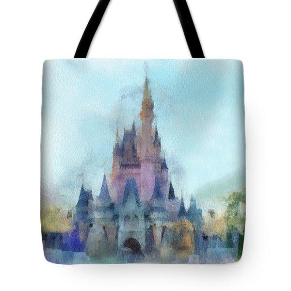 The Magic Kingdom Castle Wdw 05 Photo Art Tote Bag