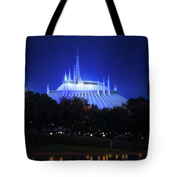 Tote Bag featuring the photograph The Magic Kingdom Entrance by Mark Andrew Thomas