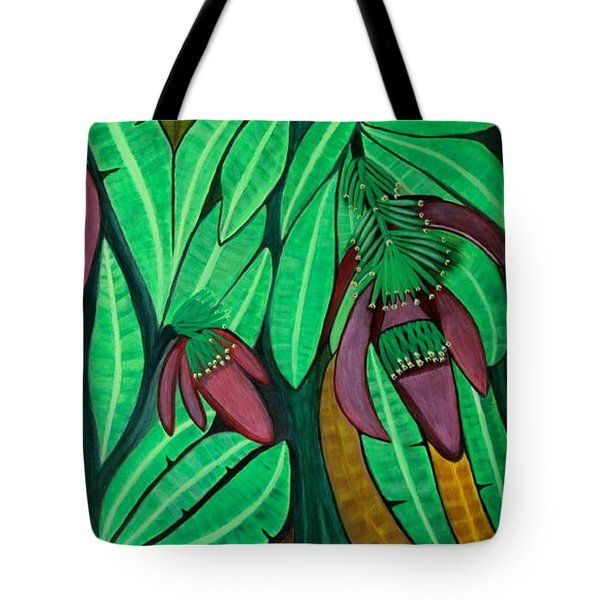 The Magic Of Banana Blossoms Tote Bag by Lorna Maza