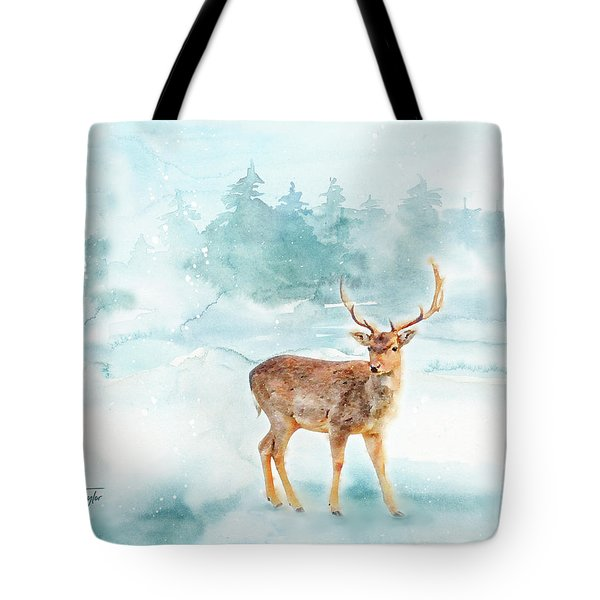 Tote Bag featuring the painting The Magic Of Winter  by Colleen Taylor