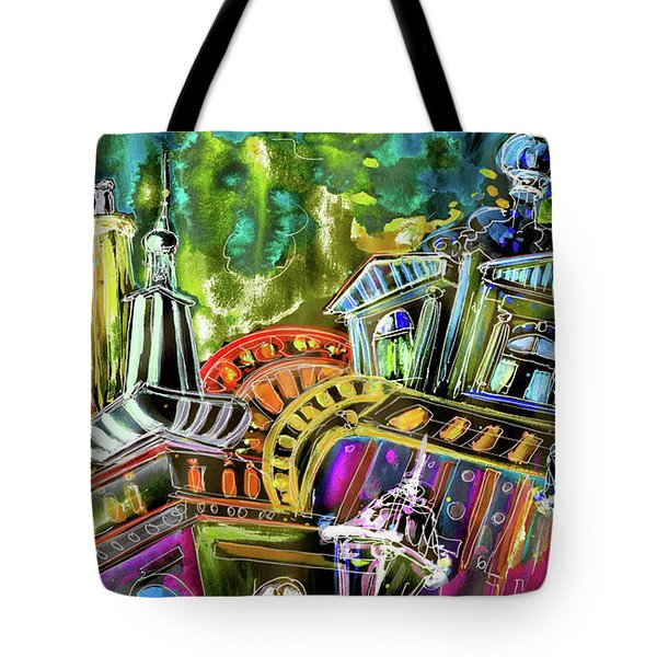 The Magical Rooftops Of Prague 02 Tote Bag by Miki De Goodaboom