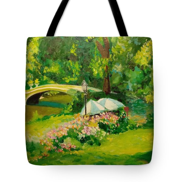 The Magnificent Bow Bridge Tote Bag