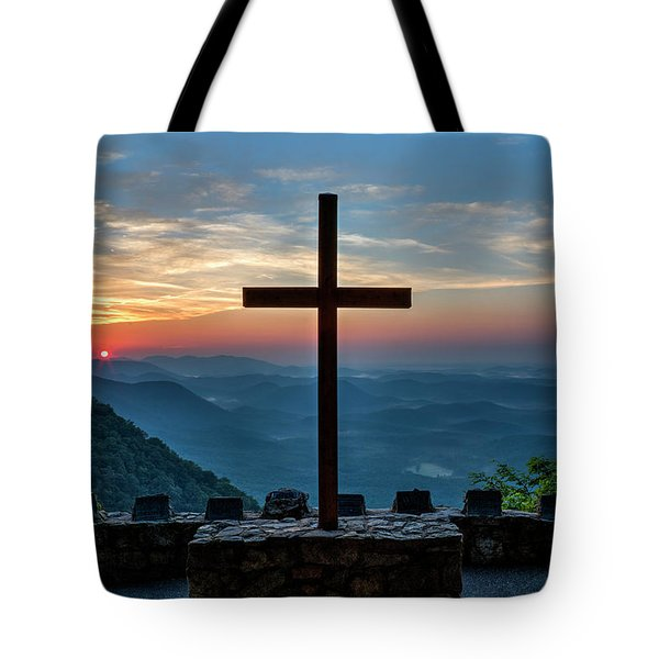 The Magnificent Cross Pretty Place Chapel Greenville Sc Great Smoky Mountains Art Tote Bag