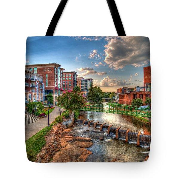 The Main Attraction Reedy River Greenville South Carolina Art Tote Bag