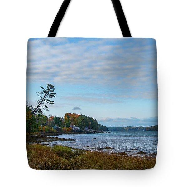 The Maine Coast Near Edgecomb  Tote Bag