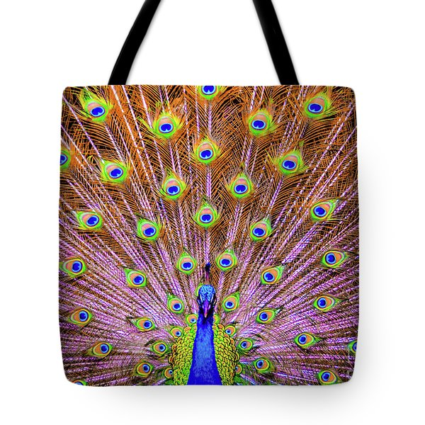 The Majestic Peacock Tote Bag