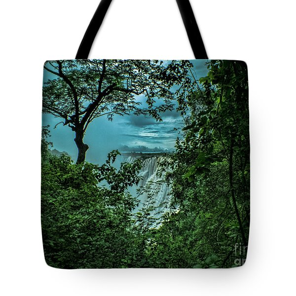 Tote Bag featuring the photograph The Majestic Victoria Falls by Karen Lewis
