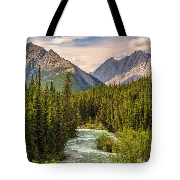 Tote Bag featuring the photograph The Maligne River by Mark Mille