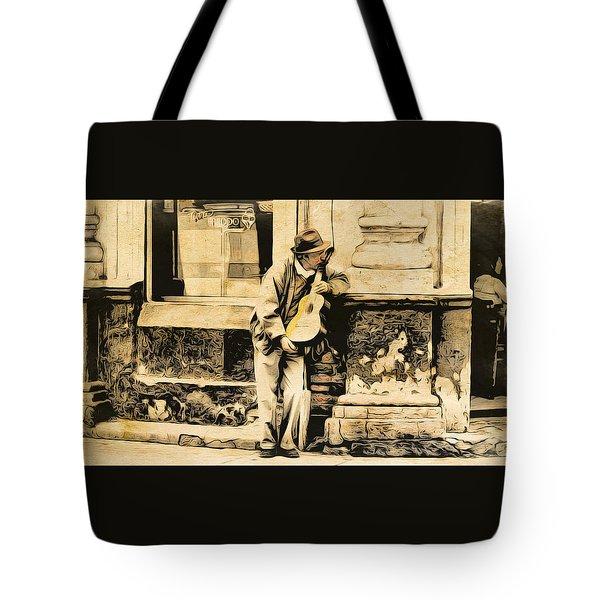 The Malingering Minstrel Tote Bag