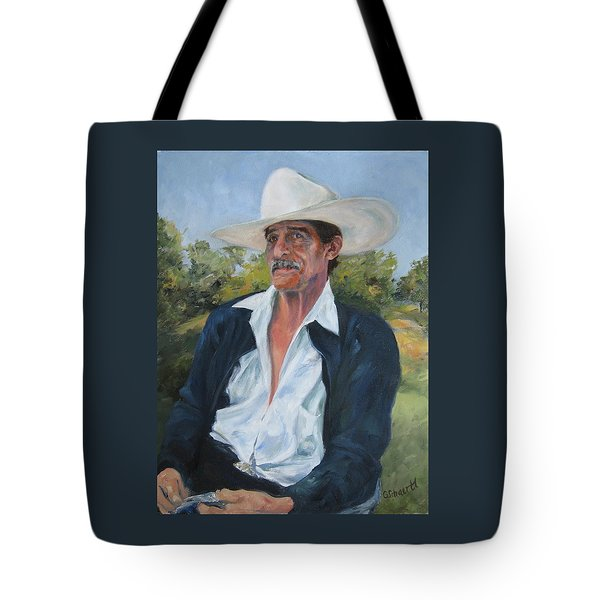 The Man From The Valley Tote Bag by Connie Schaertl